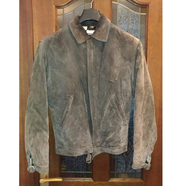 VERSACE(ヴェルサーチ)のベルサーチVersaceスエードレザージャケットジャンパーM メンズのジャケット/アウター(レザージャケット)の商品写真