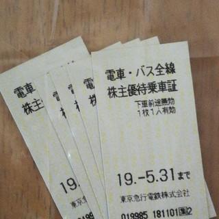 東急 株主優待乗車券(鉄道乗車券)