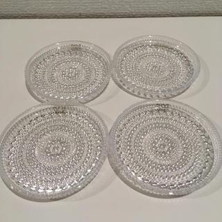 アラビア(ARABIA)のカステヘルミ ヴィンテージ小皿 4枚セット(ガラス)