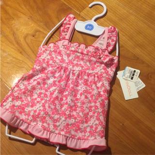 ニシマツヤ(西松屋)の新品タグ付き 小花柄 水着 80サイズ 女の子用(水着)
