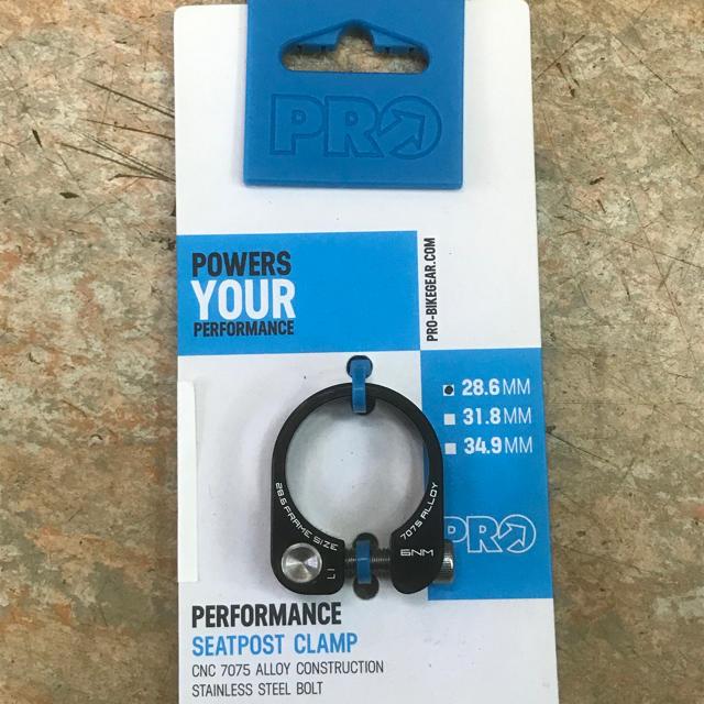 【新品】PROパフォーマンス シートポストクランプ 28.6mm用 スポーツ/アウトドアの自転車(パーツ)の商品写真