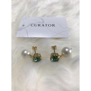 キュレーター(CURATOR)のcurator ピアス 新品未使用 超お買い得(ピアス)