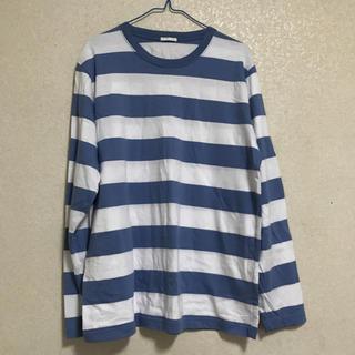ジーユー(GU)のブルー ボーダー ロンT(Tシャツ/カットソー(七分/長袖))