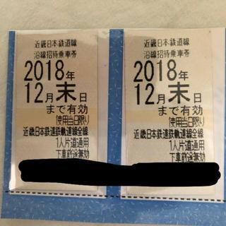 キンテツヒャッカテン(近鉄百貨店)の近鉄招待乗車券(鉄道乗車券)