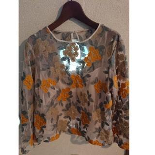 クチュールブローチ(Couture Brooch)のシアーフラワーブラウス(シャツ/ブラウス(長袖/七分))