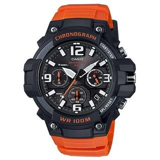カシオ(CASIO)の新品★CASIO クロノグラフ MCW-100H-4AV オレンジ(腕時計(アナログ))