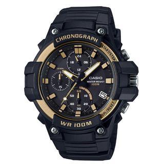 カシオ(CASIO)の新品★CASIO クロノグラフ MCW-110H-9AV ゴールド(腕時計(アナログ))