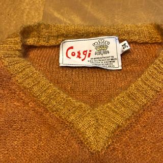 コーギ(CORGI)のコーギー  V NECK KNIT 美品 アングローバル(ニット/セーター)
