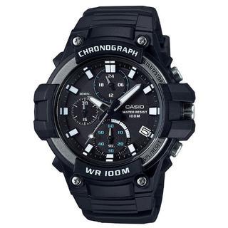 カシオ(CASIO)の新品★CASIO クロノグラフ MCW-110H-1AV ブラック(腕時計(アナログ))