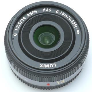 パナソニック(Panasonic)のパナソニック14mmf2.5グレー(レンズ(単焦点))