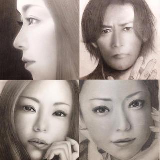 オーダーメイド 肖像画 似顔絵 鉛筆画 安室奈美恵 タレント (絵画/タペストリー)