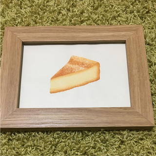 チーズケーキ 木版画 写真たて付き(版画)