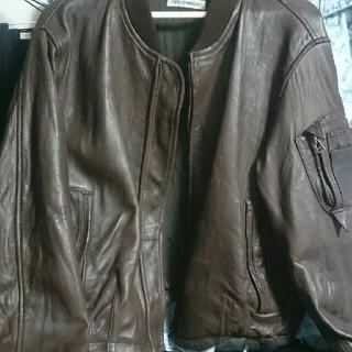 エンポリオアルマーニ(Emporio Armani)の定価15万 EMPORIO ARMANI レザーMA-1ジャケット(レザージャケット)