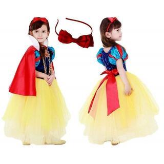 白雪姫風 プリンセスドレススカート 子供用  キッズドレス マント100cm(ワンピース)