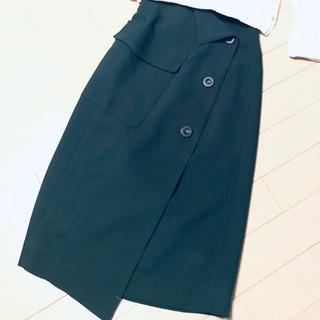 フレイアイディー(FRAY I.D)の2018今期FRAY I.D★ラップデザインアシメトリースカート(ロングスカート)