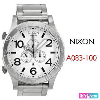 ニクソン(NIXON)のニクソン A083-100 シルバー ホワイト メンズ腕時計 新品未使用(腕時計(アナログ))