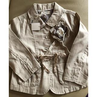 セラフ(Seraph)の新品タグ付き♡セラフ♡ジャケット♡コサージュ付き♡フォーマルにも♡サイズ100(ジャケット/上着)