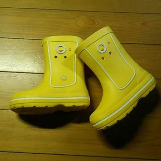 クロックス(crocs)のクロックス  レインブーツ(黄色)(長靴/レインシューズ)