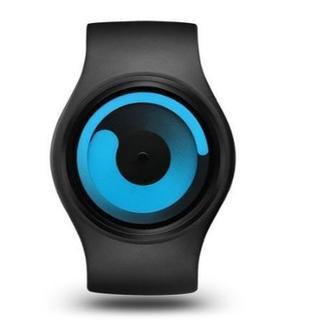 Ziiiro Z0001WBBLユニセックスグラヴィティブラックウォッチ(腕時計(デジタル))