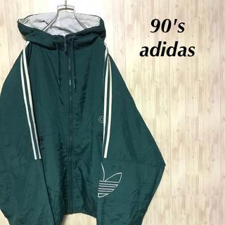 adidas - 美品 90's adidas ブルゾン 中綿入り 刺繍 トレフォイルロゴ