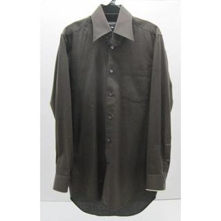 メイルアンドコー(MALE&Co.)の*0567・MALE&Co 長袖シャツ スリムフィットシャツ 茶/黒 ストライプ(シャツ)