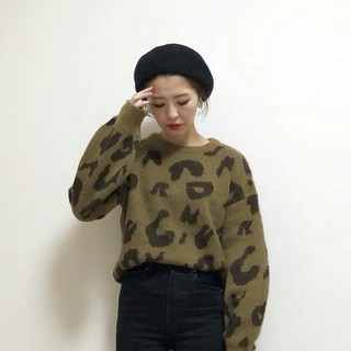 シマムラ(しまむら)の新品 レオパード ニット レオパード柄 セーター しまむらアベイルGUZARA(ニット/セーター)