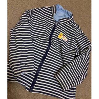 ミキハウス(mikihouse)の男の子100ミキハウスのリバーシブルジャケット水色 美品(ジャケット/上着)