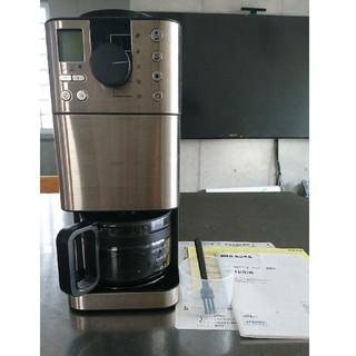 ムジルシリョウヒン(MUJI (無印良品))の【美品】無印良品 豆から挽けるコーヒーメーカー (コーヒーメーカー)