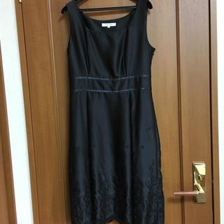 ケティ(ketty)のKETTY サテン黒ドレス(ミディアムドレス)