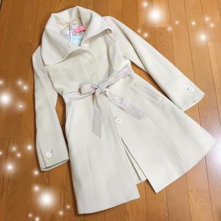 ネットディマミーナ(NETTO di MAMMINA)の美品☆アンゴラ混 オフホワイト コート(ロングコート)