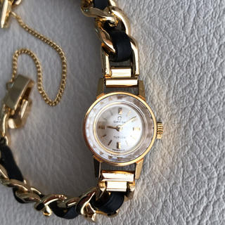 オメガ(OMEGA)のOMEGA×TURLER カットガラス手巻き 極美品 ベルト3本付 / シャネル(腕時計)