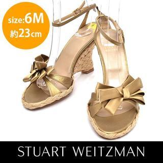 スチュワートワイツマン(Stuart Weitzman)の新品❤スチュワートワイツマン 難あり リボン ストラップ ウェッジサンダル 6M(サンダル)
