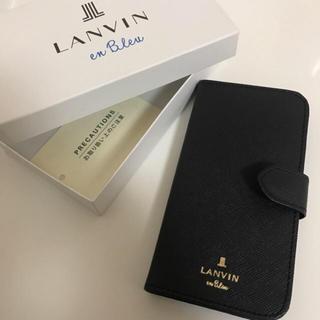 ランバンオンブルー(LANVIN en Bleu)の ランバンオンブルー ネイビー iphone7.8 スマホケース 公式完売品 (iPhoneケース)