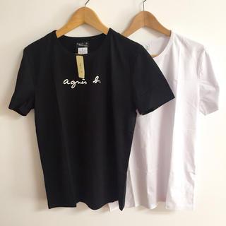 agnes b. - agnes b.アニエス・ベー半袖Mサイズ黒白2点セットカットソー ロゴTシャツ