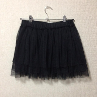 ローリーズファーム(LOWRYS FARM)のSALE★チュールスカート黒(ミニスカート)