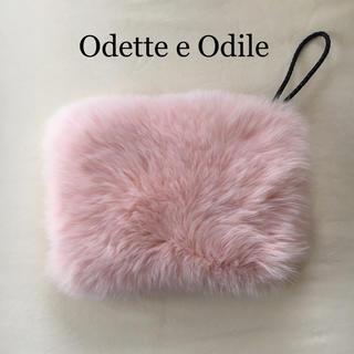 オデットエオディール(Odette e Odile)の未使用 オデットエオディール ファー クラッチ バッグ ピンク(クラッチバッグ)