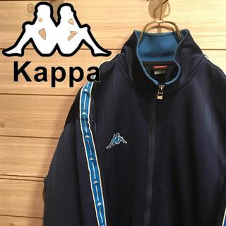 カッパ(Kappa)の古着 Kappa カッパ でかロゴ ロゴライン トラックジャケット ジャージ(ジャージ)