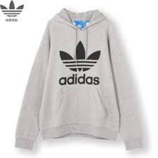 adidas - adidas アディダス ロゴパーカー グレー