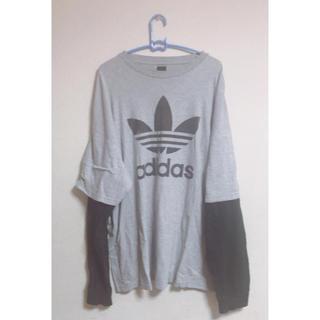 アディダス(adidas)のadidas 重ね着風ロンT(Tシャツ(長袖/七分))