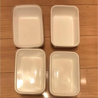 ノダホーロー(野田琺瑯)の4個 セット 野田琺瑯 レクタングル 深型 M サイズ シール フタ(容器)