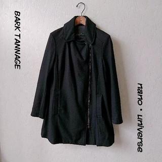 バークタンネイジ(BARK TANNAGE)のBARK TANNAGE コート ブラック 38(チェスターコート)
