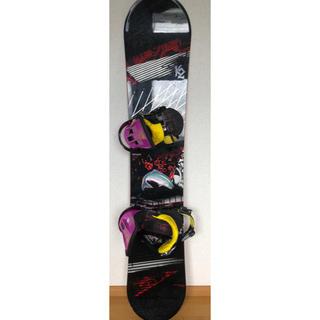 ケーツー(K2)の【送料無料】K2 BURTON スノーボード、バインディングセット ケース付き(ボード)