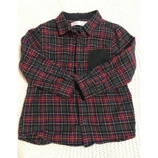 ザラ(ZARA)のZara baby チェックシャツ98(Tシャツ/カットソー)