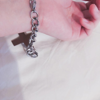 バブルス(Bubbles)の♥️ Vintage silver cross chain bracelet(ブレスレット/バングル)