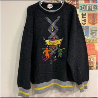 カステルバジャック(CASTELBAJAC)のカステルバジャック スキー柄セーター 美品(ニット/セーター)