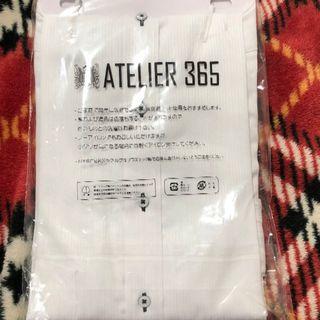 【新品,未使用】アトリエ365 長袖Yシャツ Lサイズ ストライプ(その他)