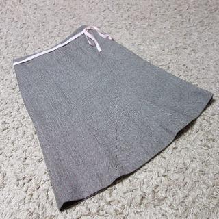 ジェイクルー(J.Crew)のJ.CREW/リボン付き ウールスカート(ひざ丈スカート)