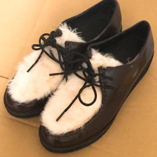 ジーユー(GU)のGU フェイクファー 厚底ローファー(ローファー/革靴)