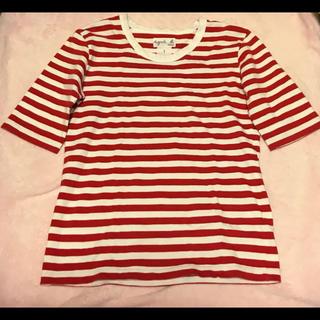 agnes b. - 人気♡【agnes b】アニエスベー ボーダー Tシャツ red 赤 ボルドー