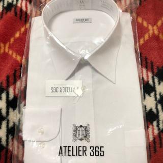 【新品,未使用】アトリエ365 長袖Yシャツ LLサイズ ホワイト無地(その他)